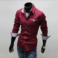 HK POST Free Shipping 2013-Free shipping new fashion men' s long shirts!Cotten and big size,men 's polo shirt,, hotsale
