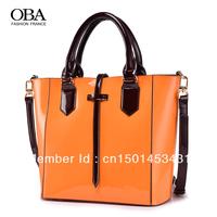 free shipping Oba2013 women's japanned leather handbag fashion cowhide handbag messenger bag 2264