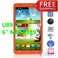 HK Post Free Shipping U89(n9776 updated) MTK6589 Quad Core 3G Smartphone Android 4.2.1 with 6.0'' Screen/GPS/Dual SIM/1GB+4GB