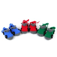 Crochet Baby Shoe Snow Booties Loops Design First Walker Shoes Cotton Yarn