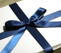 blue grosgrain ribbon satin ribbon wedding party favor gift package decoration