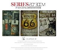 Route 66 Retro Tin Sign - 11.8'' X 7.87'' - 3pcs/lot