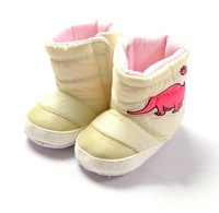6pairs/lot,cute dinosaur autumn/winter cotton baby boots soft sole toddler shoes pre-walker fist walker shoes free shipping