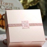 12*12*4.2CM Cake paper box Candy gift box container Food packaging box, Free shipping