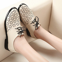 vintage carved preppy style shoes brockden cutout flat bottom single shoes female punk unisex women's shoes size 35-39