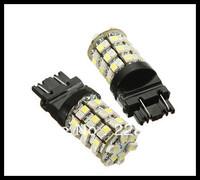 Free shipping, dual color 60 LED Car 3528 SMD 3157 1157 7443 dual color switchback DC 12V Car Brake Tail Light turn light White