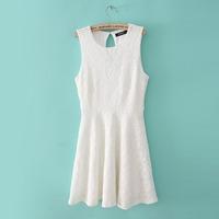 Women's 2013 pullbear summer fashion ladies lace sleeveless vest one-piece dress