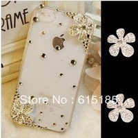 Free shipping! min order $15  flower alloy flatback for diy phone decoration 12pc for woman (no phone case) DY571
