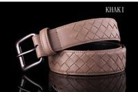 2013 100% Cowhide Genuine Leather Vintage Knitted Men's Straps Belts For Mens Fashion brand designer belt male