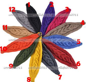 Free shipping 5 pcs/Lot Keep warmer Winter Autumn Knit Headband Headwrap Headwear soft