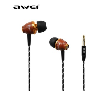 Original Awei ES-Q5 In-ear Headset Heaphones Earphone for iPhone 4 4S 3GS 4G ipod touch MP3 MP4 Special Wood Figure