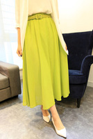 Free shipping chiffon fairy skirt chiffon full dress half-length full dress expansion bottom half-length full dress