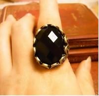Min order is $9 fashion personalized vintage carved black gem ring finger ring