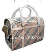 Free shipping, plaid pet bag, fashion