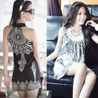 Free Shipping! 2013 Summer Womens Bohemia Dress, Womens Fashion Sexy Sleeveless Vest Dress