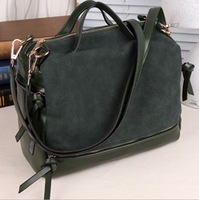 Retail New women's fashion designer handbag 2013 autumn/winter suede korean lady's leisure shoulder bag 3 colors messenger bag