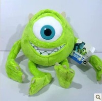 Monsters Inc free shipping Monsters University 23cm 9'' Monster Mike Wazowski plush toy for kids gift
