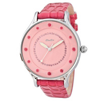 Fashionable casual diamond women's luminous watch genuine leather watchband young girl  quartz watch