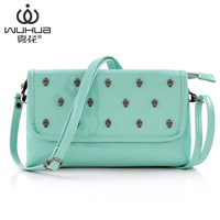 Fog flower 2013 women's handbag bag cross-body shoulder bag skull rivet bag summer bags