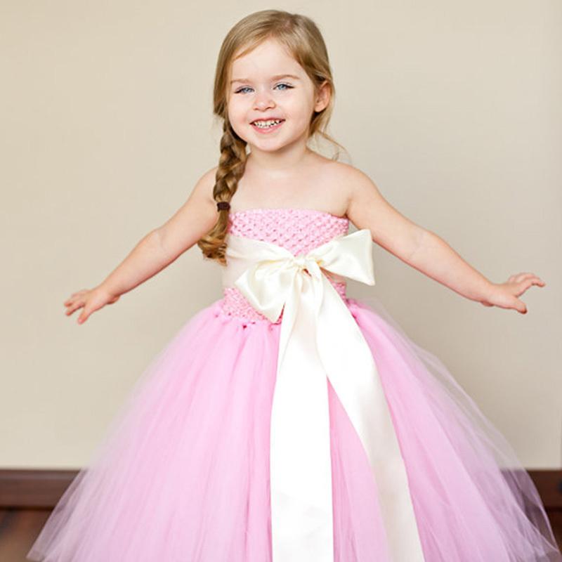 Pink Flower Girl Dress