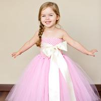 2013 New Arrival Pink Flower girl dress, Prom dresses, junior bridesmaid dresses, beautiful girls dress Sunlun Free Shipping