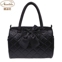 Nantita2013 women's handbag bangkok bag black big bow BOSS portable bucket handbag