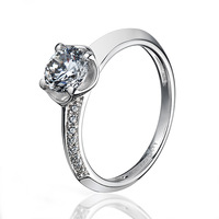 0.53 dena genuine diamonds 925 silver platinum stone ring women's ring lovers ring