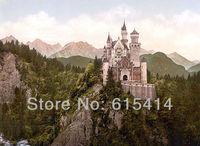 "15 New Swan Stone Castle Schloss Neuschwanstein 19""x14"" Inch Wallpapr Sticker Poster"