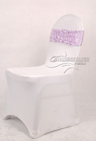 new desgin free shipping lilac satin chair bow,easy to fit on chair  no tie by hand