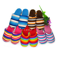 Cotton-padded slippers lovers slippers at home cotton-padded autumn and winter color thermal cotton-padded shoes