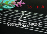 FREE SHIPPING 925 silver 18 inch O cable chain necklace.silver 925 necklaces.fashion jewelry.wholesale jewelry