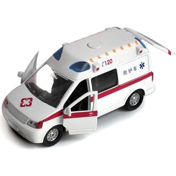 Your good friend 120 ambulance alloy car model WARRIOR car toy belt