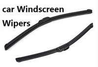 free shipping Windscreen Wipers minimize noise memory spring steel slice design Universal car wiper blades soft silicone Rubber