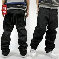Hot,Free shipping!!! Men's large size hip hop jeans hip-hop clothing  washing loose fashion skateboard pants,32-42