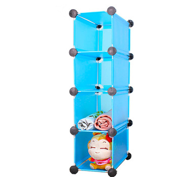 Diy storage shelf 4 bookshelf toy cabinet transparent plastic frame storage cabinet drawer