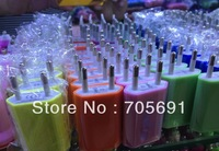 Fast Free shipping High quality new 2000pcs/lot EU Plug 5V 1A AC Power USB Wall Charger For iPhone 4 4S 3GS iPod