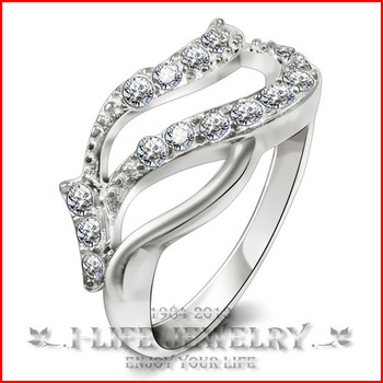 Fashion Jewerly 925 Sterling Silver Girls Valentine Cordial In Europe And America Vintage Wedding Bands with Zirconia Gems