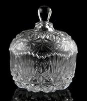 Free Shipping Crystal glass diamond sugar bowl sucrier dried fruit box storage tank dried fruit jar decoration sucrier