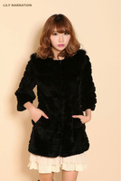 Rabbit Fur Beauty coat garment jacket outwear appeal for wonmen dress
