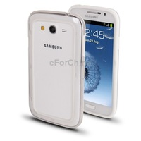 Top Sale White Silicon   Transparent Plastic Bumper Frame for Samsung Galaxy Grand Duos / i9082 / i9080