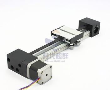 Synchrobelt linear guide slipups 42 stepper motor pulley linear motor 350mm long