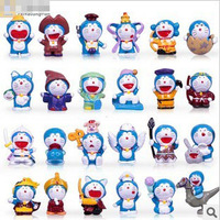 Free Shipping,24 Styles Doraemon Toy Models,Garage Kit,Action Figures,5cm,24PCS/SET