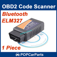 ELM327 Bluetooth OBDII V1.5 CAN-BUS Diagnostic Interface Scanner Bluetooth ELM 327 OBD 2 Car Code Scan Tool, Free Shipping