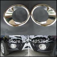 free shipping Chrome Front Fog Light Cover for 2011~2012  Hyundai Santa Fe