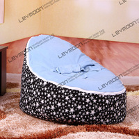 FREE SHIPPING baby bean bag cover with 2pcs light blue cover baby bean bag seat cover baby bean bag chair kids bean bag seat