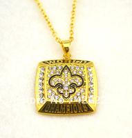 Free shipping 5pcs a lot New orleans Saints Clots championship pendant necklace