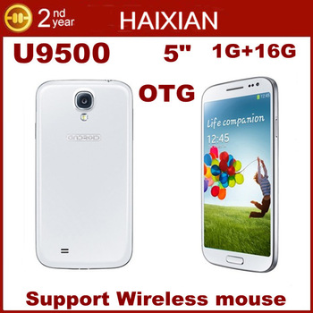 5'' U9500 Quad Core phone MTK6589 IPS 1280*720 16GB ROM Android 4.2 GPS 3G support OTG & Wireless mouse android phones Dual sim