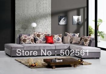 2014 new modern functional velvet fabric corner sofa living room furniture L shape