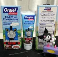 Orajel child baby toothpaste thomas fluoride-free 42g fruit flavor