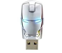 Wholesales! New Avengers Silver Iron Man LED Flash Genuine 4GB/8GB/16GB/32GB USB Flash 2.0 Memory Drive Stick Pen/Thumb